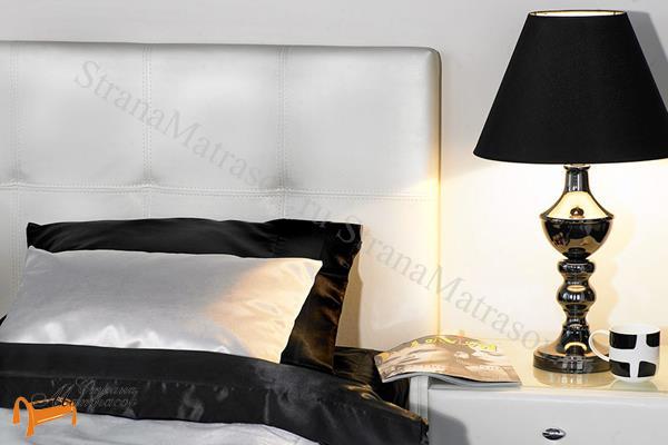 Аскона Кровать Greta с подъемным механизмом , спинка, экокожа, кровать Марта, кровать Marta