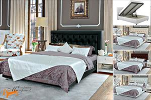Аскона - Кровать двуспальная Simona с подъемным механизмом