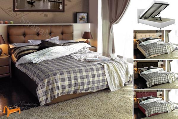 Аскона -  Аскона Кровать двуспальная Sandra с подъемным механизмом