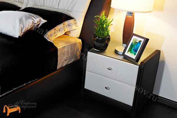 Аскона Тумба Классик 2 , экокожа, с выдвижным ящиком, с двумя ящиками