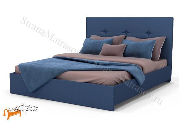 Аскона Кровать двуспальная Isabella с подъемным механизмом , экокожа, кровать изабелла, кровать Maya Аскона, кровать Мая Аскона, синяя
