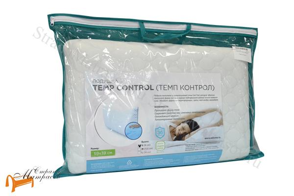 Аскона Подушка Vita Home Temp Control S 60 x 40 , терморегуляция, прохлада, гипоаллергенная, пена с эффектом памяти, охлаждающий чехол