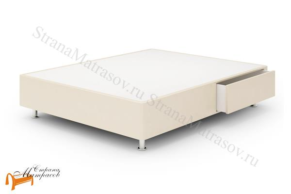 Lonax Кровать Box Maxi Drawer с основанием (1 ящик) , березовая фанера, экокожа, коричневый, белый, черный, бежевый, ящик
