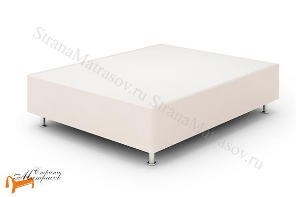 Lonax Кровать Box Maxi с основанием , березовая фанера, экокожа, коричневый, белый, черный, бежевый