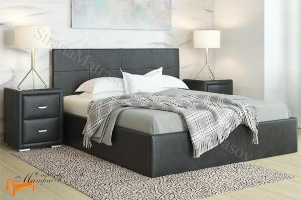 Орматек Кровать Alba с подъемным механизмом (без ножек) , альба, коричневая, экокожа, люкс, шоколадная, белая, черная, бежевая, кремовая, ящик