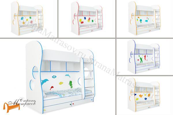 Орматек - детская кровать Орматек двухъярусная Соната Kids (для мальчиков и девочек) с основанием