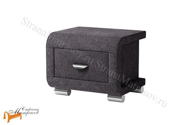 Орматек Тумба прикроватная Orma Soft 3 , выполнена из экокожи класса люкс,   бежевая, коричневая, кремовая, чёрная,