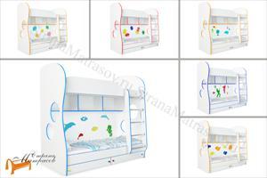 Орматек - детская кровать двухъярусная Соната Kids (для мальчиков и девочек) с основанием
