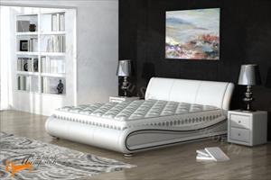 Орматек - Кровать Clip из натуральной кожи