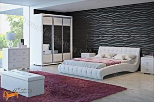 Орматек - Кровать Vederi из натуральной кожи