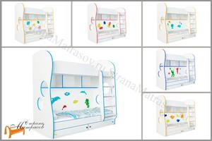 Орматек - Кровать Соната Kids двухъярусная (для мальчиков и девочек) с основанием и ящиками
