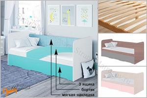 Орматек - Кровать Child с основанием (3 ящика)