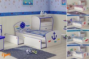 Орматек - Кровать Соната Kids Плюс (для мальчиков) с ящиками и с основанием