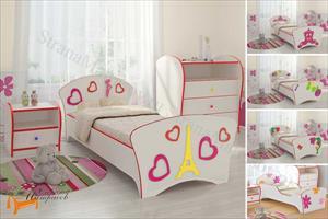 Орматек - Детская кровать Соната Kids (для девочек) с основанием