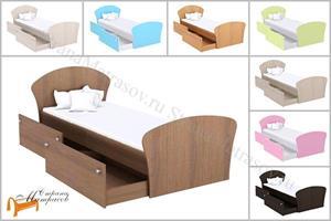 Орматек - Кровать Соната Junior Плюс с ящиками и с основанием