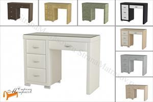 Орматек -  Туалетный стол Orma Soft 2 (4 ящика) левый со стеклом