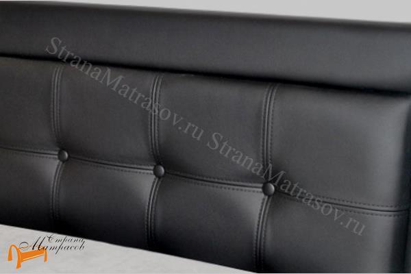 Орматек Кровать Veda 2 с основанием , экокожа, ткань, велюр, рогожка, белая, черная, коричневая, бежевая, кремовая, золотая, жемчуг, крокодил,