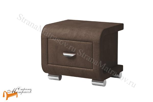 Орматек Тумба прикроватная Orma Soft 3 , выполнена из экокожи класса люкс, два выдвижных ящика,  бежевая, коричневая, кремовая, чёрная,