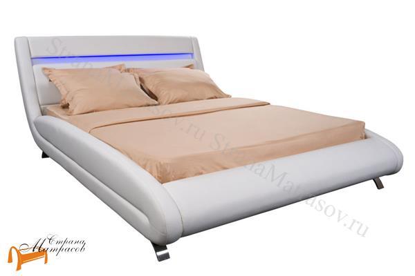 Орматек Кровать Corso-7 с подсветкой , корсо, белая, коричневая, кремовая, ваниль, экокожа