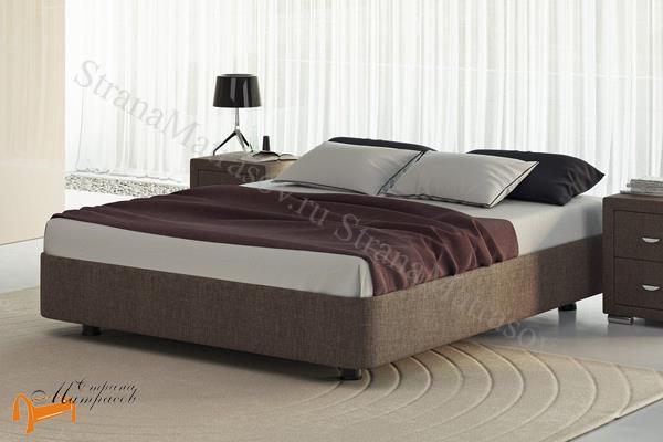 Орматек Кровать Rocky Base с основанием , подиум, экокожа, ткань, велюр, рогожка, черная, белая, коричневая, кремовая, бежевая, золотая, жемчуг, рыжая, красная, зеленая, молочная