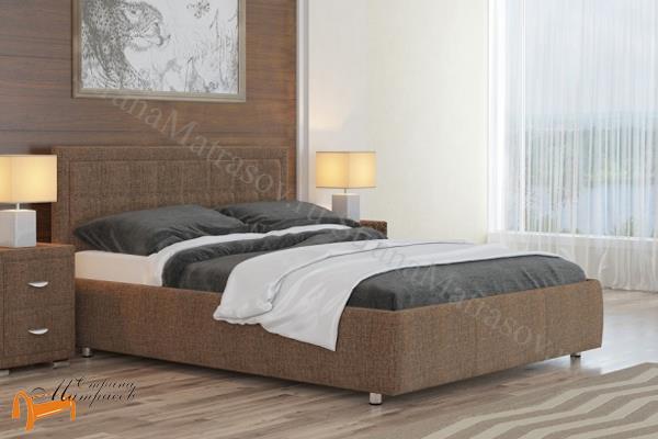 Орматек Кровать Como 2 с подъемным механизмом , экокожа, ткань, велюр, рогожка, белая, черная, коричневая, бежевая, кремовая, золотая, жемчуг, крокодил, ящик