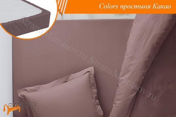 Орматек Простыня Colors на резинке , из сатина, 100% хлопок, голубая, белая, бежевая, желтая, розовая, салатовая. Орматек, собрать комплект по цвету