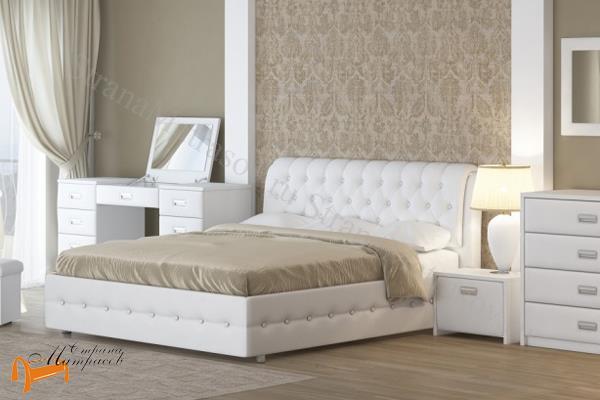 Орматек Кровать Como 4 с подъемным механизмом , экокожа, ткань, рогожка, велюр, золото, олива, белый, чёрный, кремовый, бежевый, коричневый, зеленый, красный, комо