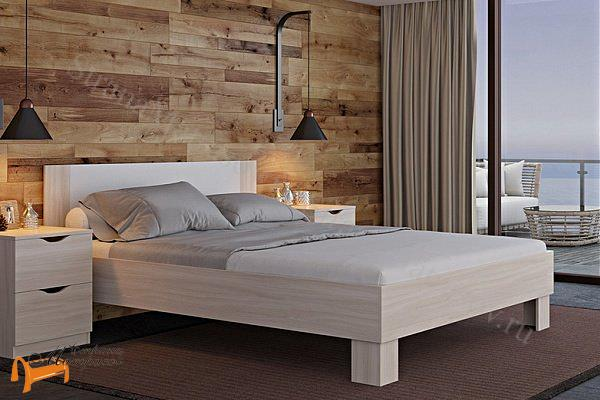 Орматек Кровать Just 1 , кровать орматек, ЛДСП , ясень шимо, экокожа беллая, венге, кровать без основания