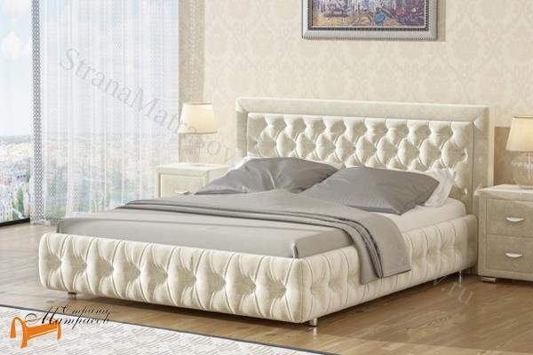 Орматек Кровать двуспальная Veda 6 с основанием , экокожа, ткань, рогожка, велюр, золото, олива, белый, чёрный, кремовый, бежевый, коричневый, зеленый