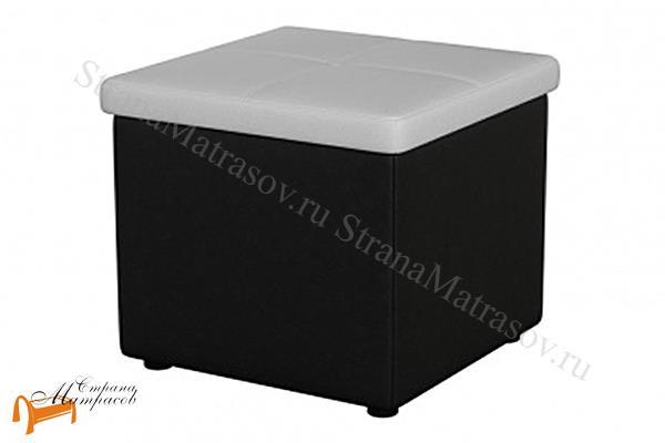 Орматек  Пуф OrmaSoft 2 одноместный (с ящиком) , пуфик, экокожа, ящик, ткань, рогожка, велюр, белый, черный, кремовый, бежевый, коричневый, лен, рыжий, серый, перламутр