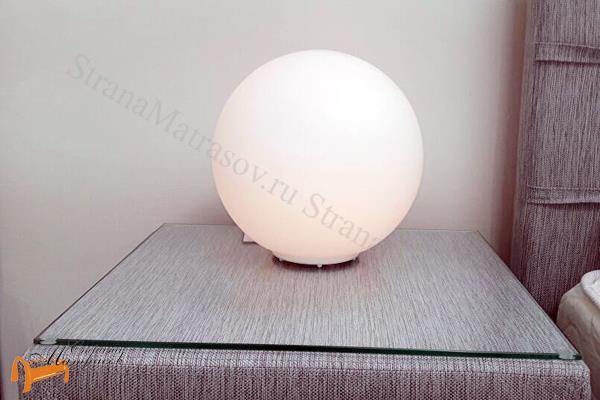 Райтон  Настольная лампа Deco A6025LT-1WH , светильник, круглый, матовое стекло