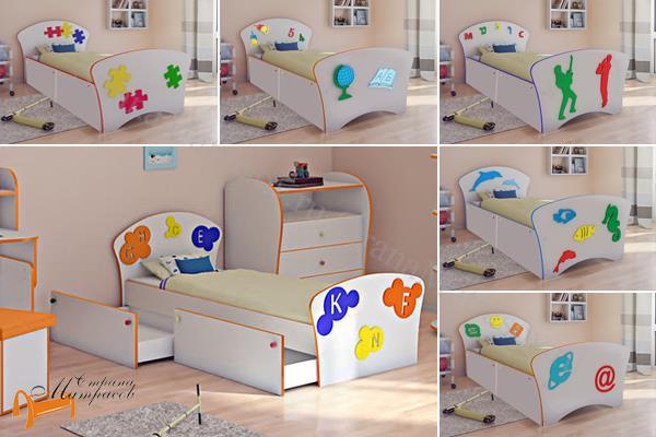 Орматек - детская кровать Орматек Соната Kids Плюс (для мальчиков и девочек) c ящиками и с основанием