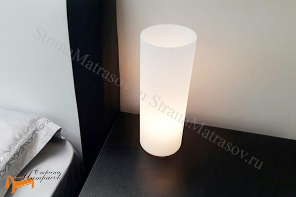 Райтон  Настольная лампа Deco A6710LT-1WH , светильник, как свеча, матовое, стекло