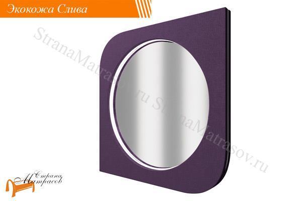 Орматек Зеркало настенное Luna , экокожа, подсветка, ткань, велюр, луна