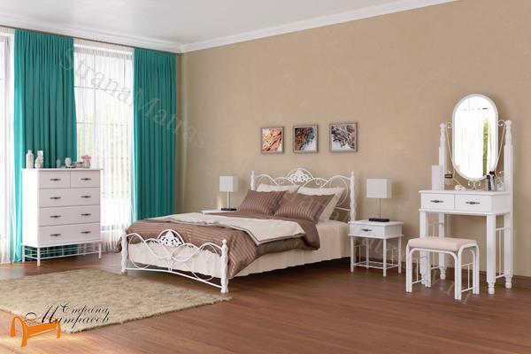 Орматек Комод Garda 2R (4 ящика) , металл, гарда, дерево гевеи, белая, венги, коричневая, орех