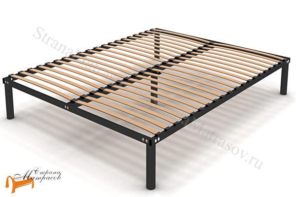 Орматек Основание для кровати разборное металлическое с ножками , металл, березовые ламели