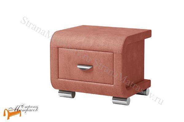 Орматек Тумба прикроватная Orma Soft 3 , выполнена из экокожи класса люкс, ,  бежевая, коричневая, кремовая, чёрная,