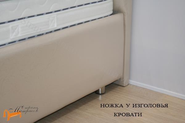 Райтон Кровать Life Box 1 с подъемным механизмом , лайв бокс, ножка, ножка у изголовья, перламут, жемчуг, экокожа, люкс