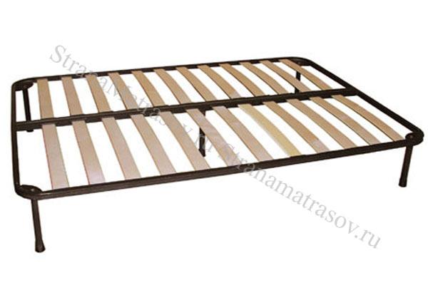 Орматек Основание для кровати металлическое с березовыми ламелями с ножками , ламели, металл, орматек