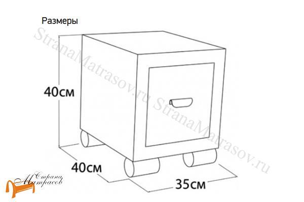 Орматек Тумба прикроватная узкая Orma Soft 2