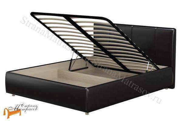 Орматек Кровать Como 3 с подъемным механизмом , экокожа, цвет черный