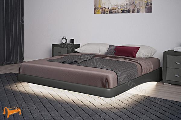 Орматек Кровать Парящее основание с ламелями , экокожа, ткань, велюр, рогожка, белая, черная, коричневая, бежевая, кремовая, золотая, жемчуг,