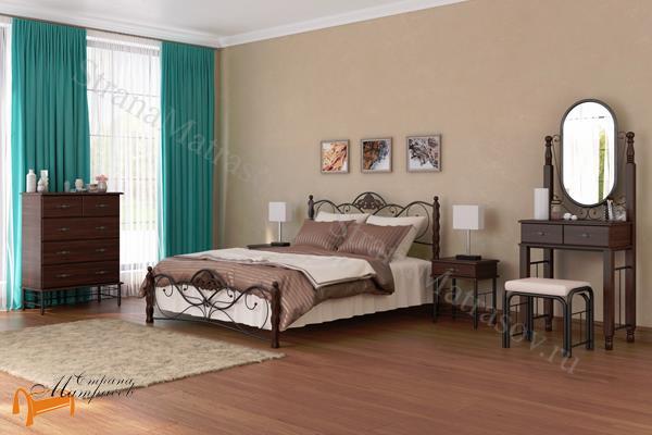 Орматек Кровать Garda 2R с основанием , металл, гарда, дерево гевеи, дерево березы, белая, венги, коричневая, орех
