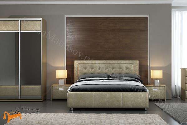 Орматек Кровать Como 2 с подъемным механизмом , экокожа, ткань, велюр, рогожка, белая, черная, коричневая, бежевая, кремовая, золотая, жемчуг, крокодил, стразы