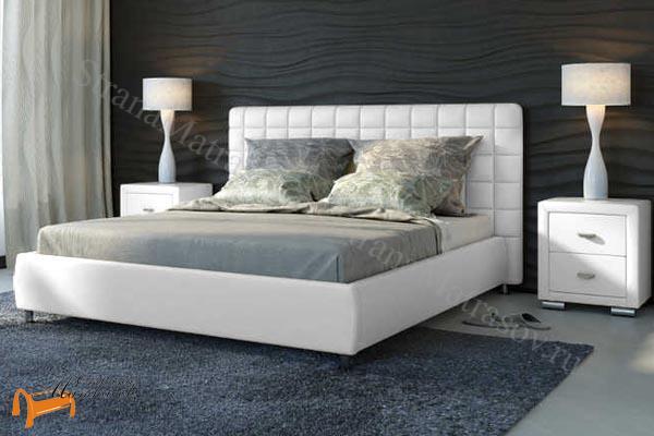 Орматек Кровать двуспальная Corso 3 , корса 3, белый, белая, светлая, экокожа, люкс