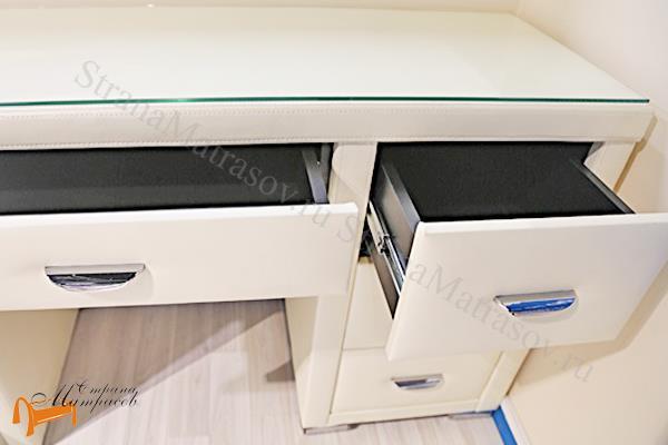 Орматек  Туалетный стол Orma Soft 2 (7 ящиков) со стеклом