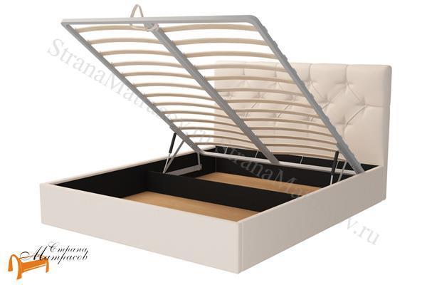 Орматек Кровать Veronica с подъемным механизмом , вероника, подъемный механизм, мягкая, экокожа, белый, синий, черный, бежевый