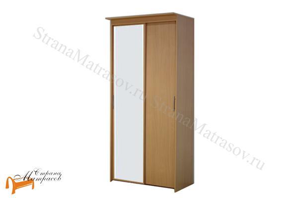 Орматек -  Шкаф-купе Эконом 2-х дверный (глубина 600мм) с 1 зеркалом