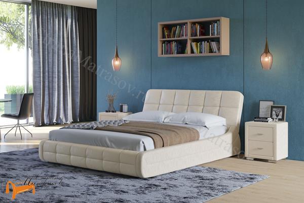 Орматек Кровать двуспальная Corso 6 , корсо, экокожа, белая, кремовая, ванильная, коричневая, венги, олива, золото, крокодил, ваниль, жемчуг, серая, черная