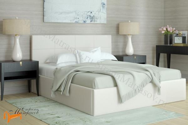 Орматек Кровать Alba (без ножек) , альба, коричневая, экокожа, люкс, шоколадная, белая, черная, бежевая, кремовая